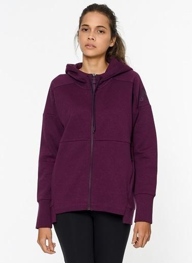Kapüşonlu Fermuarlı Polar Sweatshirt-adidas